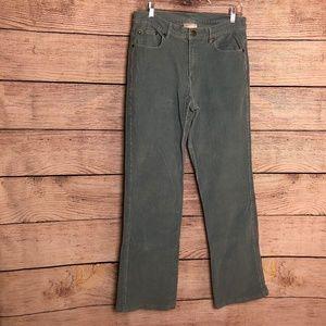 Soft Surroundings Aqua Corduroy Pants Size ST